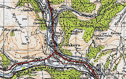 Old map of Pontywaun in 1947