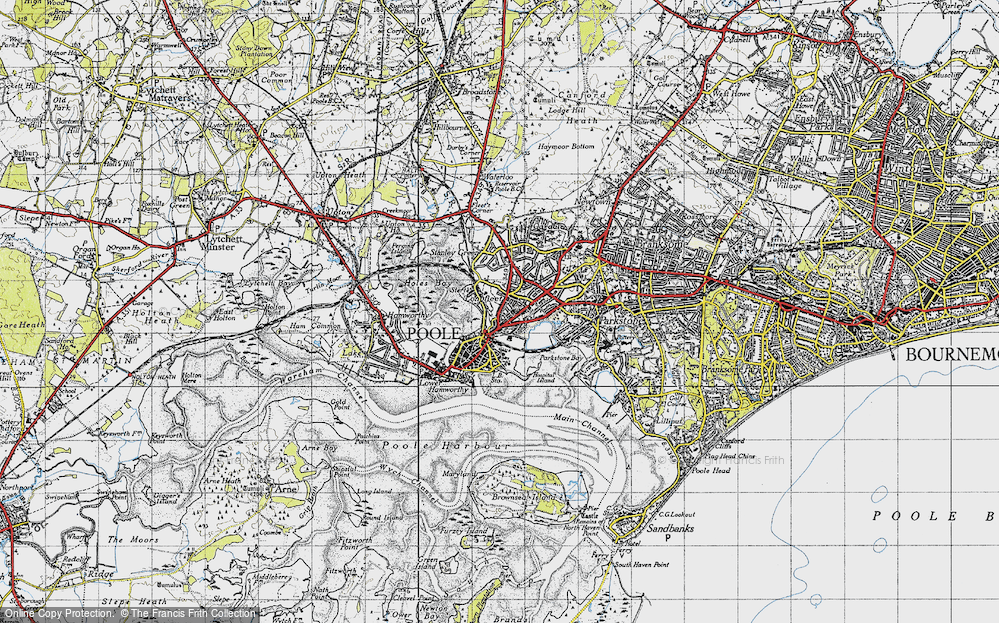 Old Map of Poole, 1940 in 1940