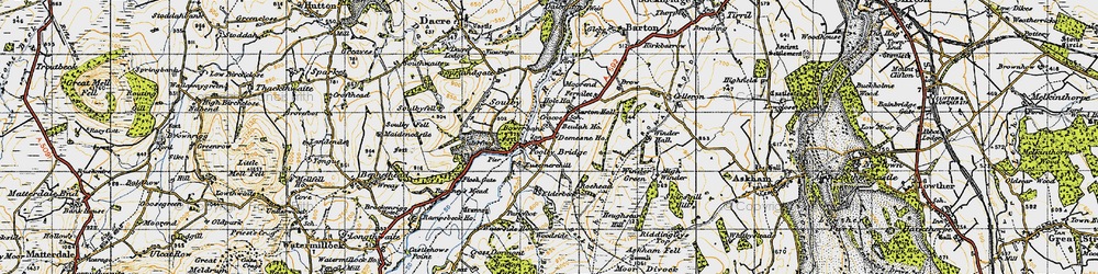 Old map of Aik Beck in 1947