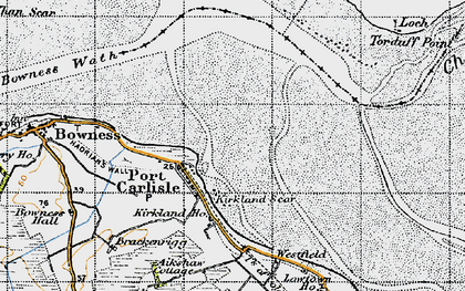 Old map of Port Carlisle in 1947