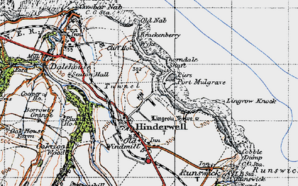 Old map of Lingrow Knock in 1947