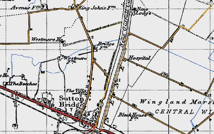 Old map of Wingland Marsh in 1946