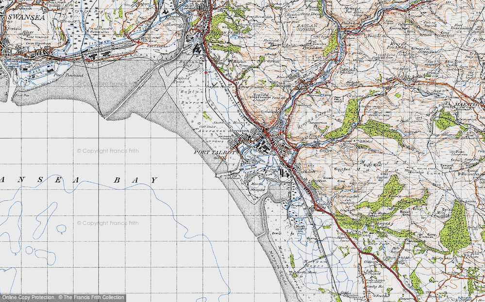 Old Map of Port Talbot, 1947 in 1947