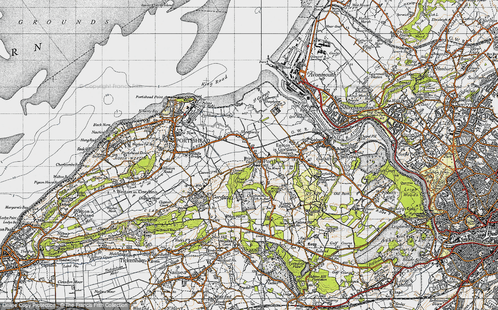 Old Map of Portbury, 1946 in 1946