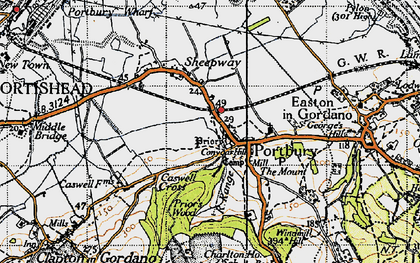 Old map of Windmill Hill in 1946