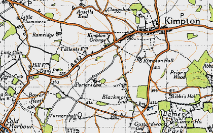 Old map of Porter's End in 1946