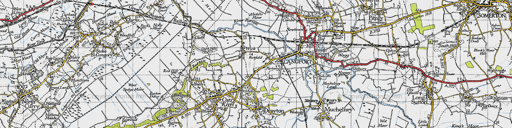 Old map of Portfield in 1945
