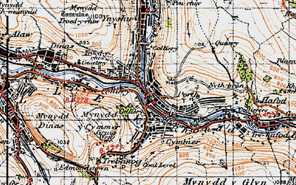 Old map of Porth in 1947