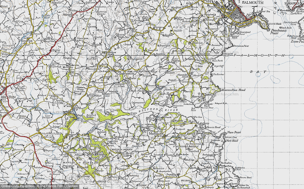 Old Map of Porth Navas, 1946 in 1946