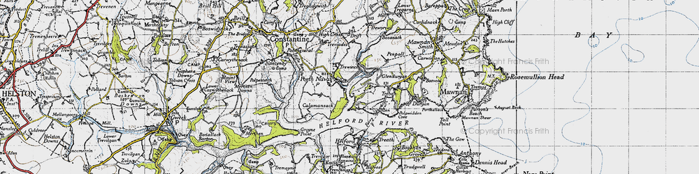 Old map of Port Navas in 1946