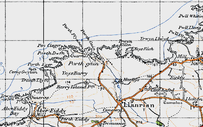 Old map of Porthgain in 1946