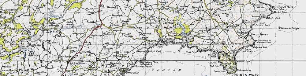 Old map of Portholland in 1946