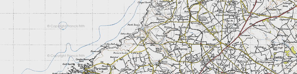 Old map of Tobban Horse in 1946