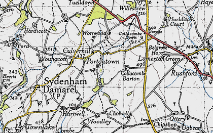 Old map of Wonwood in 1946