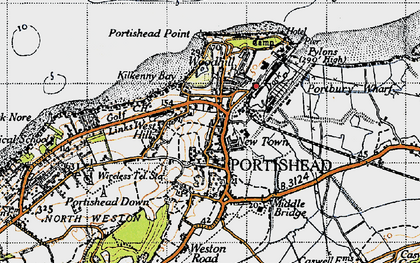 Old map of Portishead in 1946