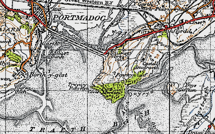 Old map of Portmeirion in 1947