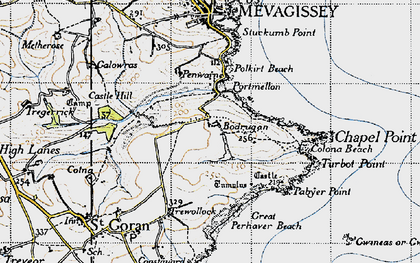 Old map of Portmellon in 1946