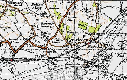 Old map of Portskewett in 1946
