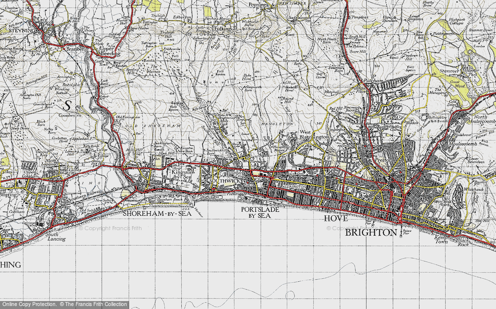Old Map of Portslade, 1940 in 1940