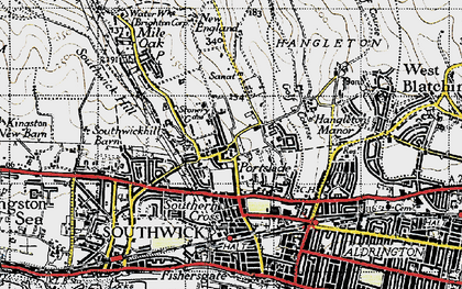 Old map of Portslade in 1940