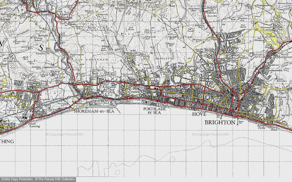 Old Map of Portslade-By-Sea, 1940 in 1940
