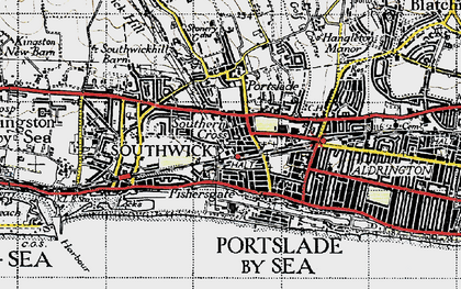 Old map of Portslade-By-Sea in 1940