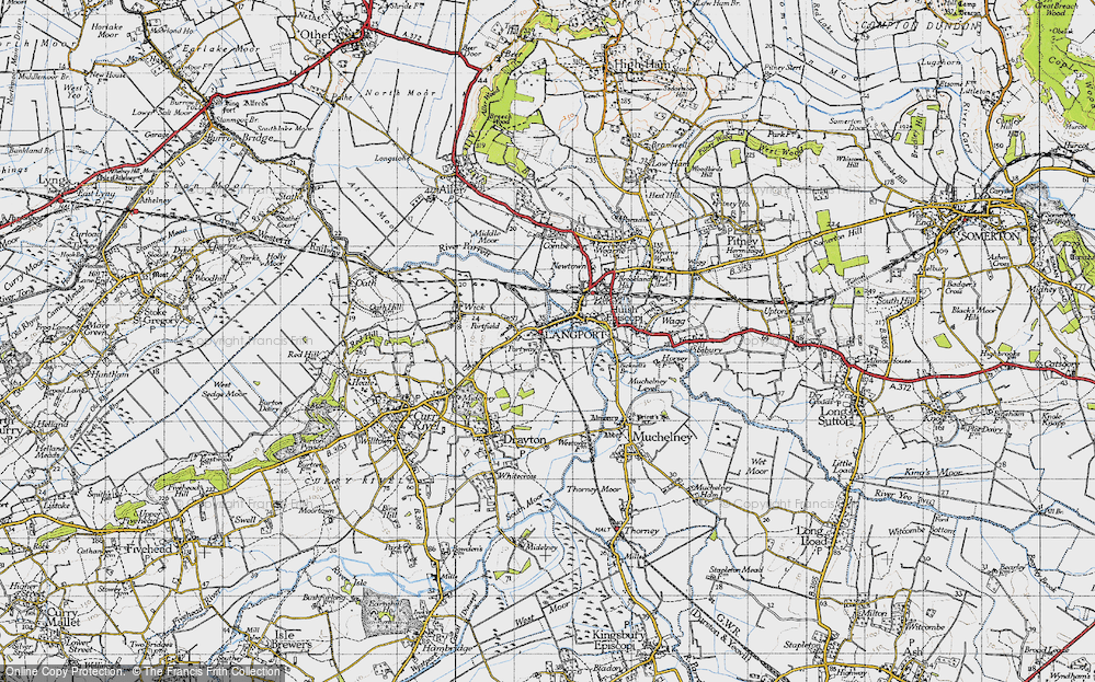 Old Map of Portway, 1945 in 1945