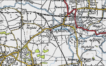 Old map of Portway in 1945