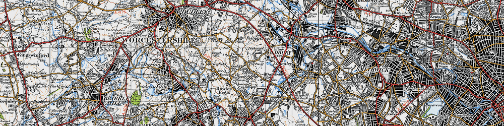 Old map of Portway in 1946