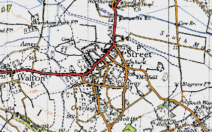 Old map of Pomparles Br in 1946