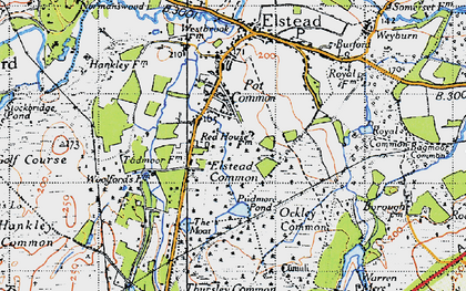 Old map of Bagmoor Common in 1940