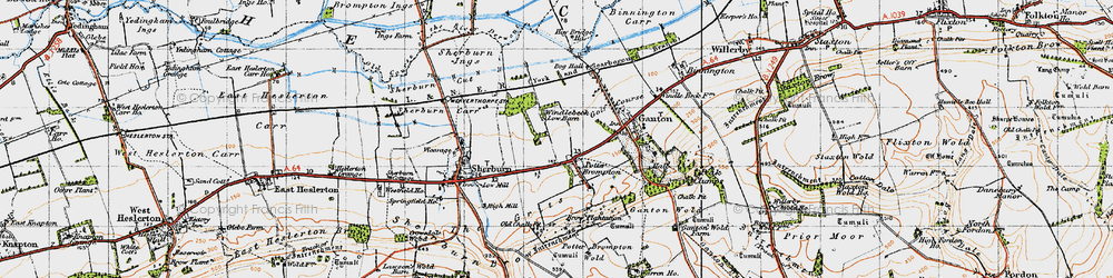 Old map of Allison Wold Fm in 1947