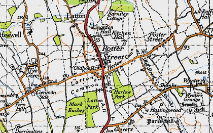 Old map of Latton Park in 1946
