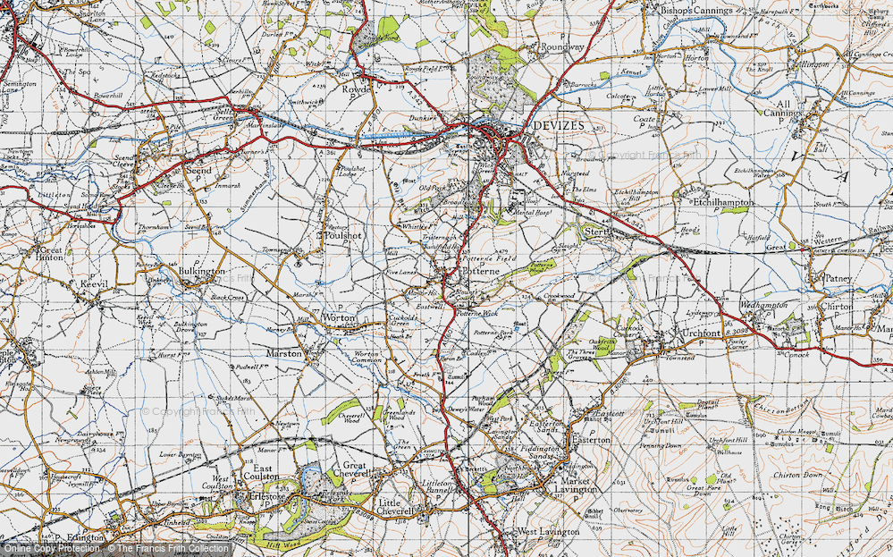 Old Map of Potterne, 1940 in 1940