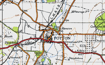 Old map of Potton in 1946
