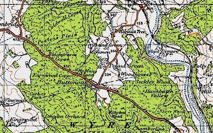 Old map of Withybed Wood in 1947