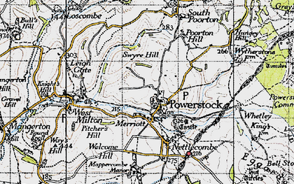 Old map of Whetley in 1945