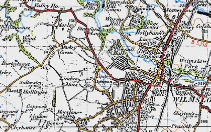 Old map of Lindow Common in 1947