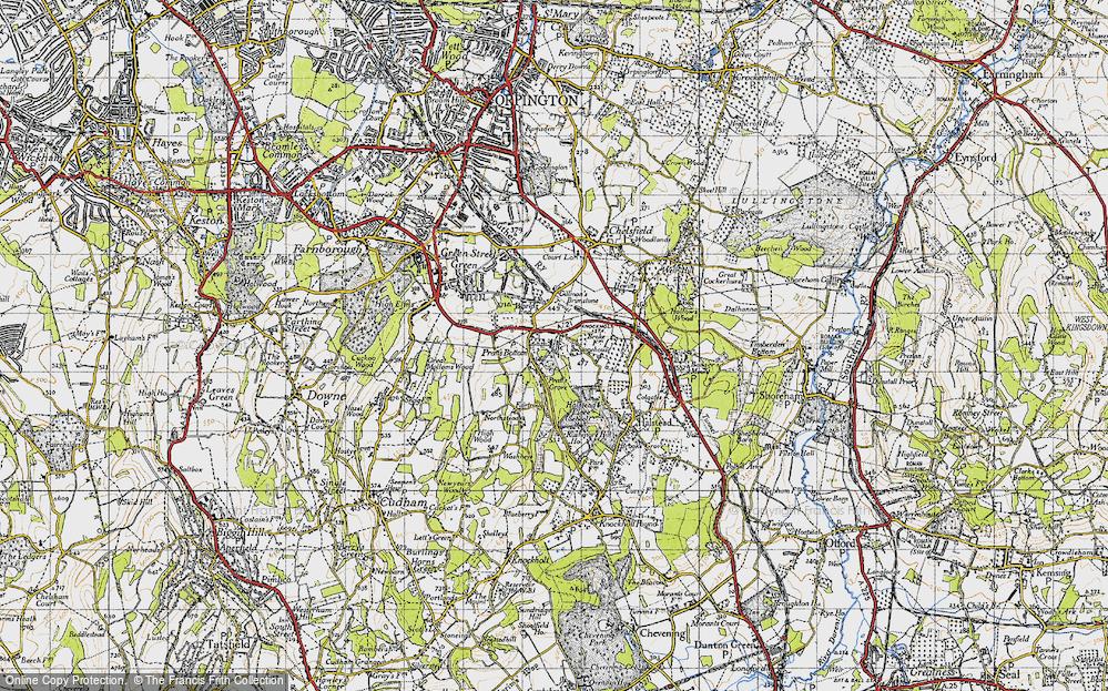 Old Map of Pratt's Bottom, 1946 in 1946