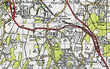 Old map of Pratt's Bottom in 1946