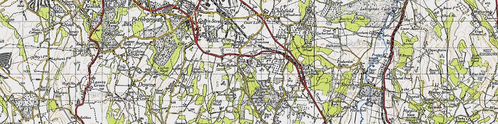 Old map of Pratt's Bottom in 1946