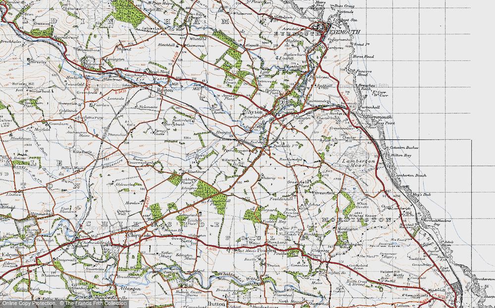 Old Map of Prenderguest, 1947 in 1947
