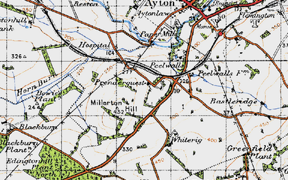 Old map of Aytonlaw in 1947