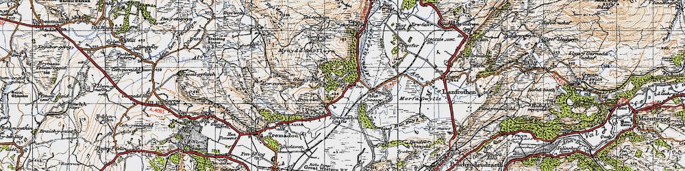 Old map of Prenteg in 1947