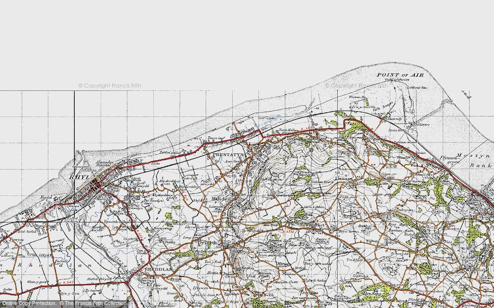 Old Map of Prestatyn, 1947 in 1947