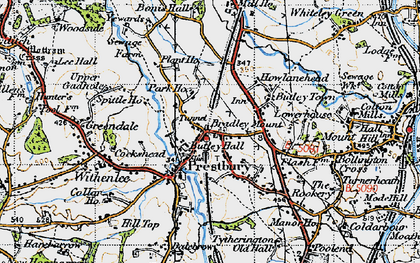 Old map of White Gables in 1947