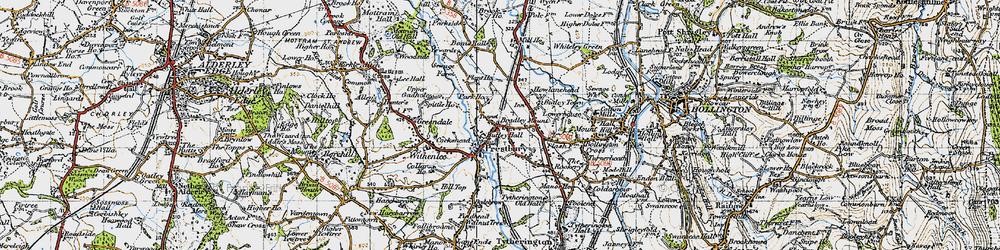 Old map of Prestbury in 1947