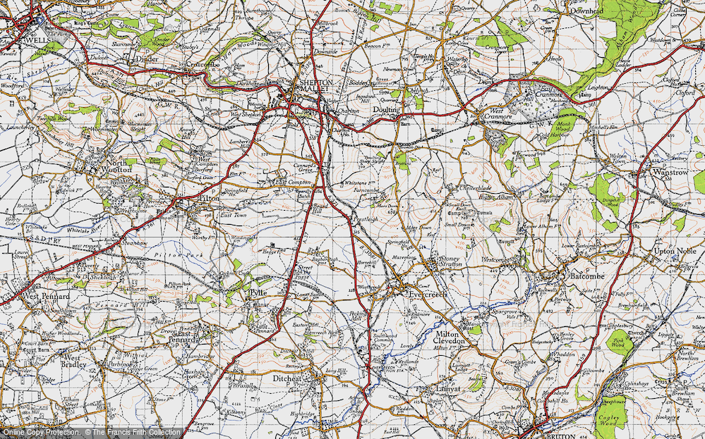 Old Map of Historic Map covering Agricultural Show Ground in 1946