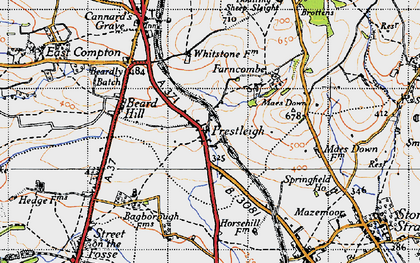 Old map of Agricultural Show Ground in 1946