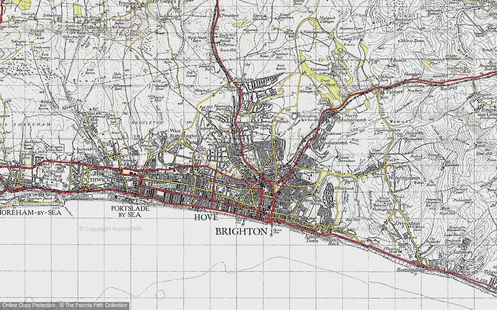 Old Map of Preston, 1940 in 1940